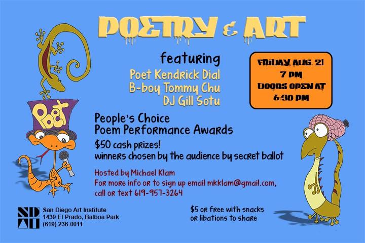Poetry Art 2015 Friday August 21st Home Michael Klam