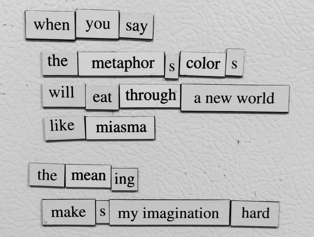 Fridge Poem #3