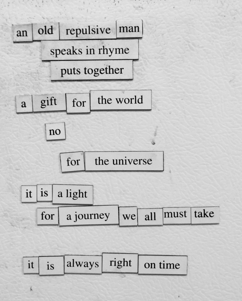 Refrigerator Poem #1